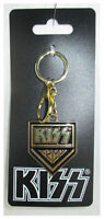 KISS Keychain w/ Enameled Metal KISS ARMY Charm, NEW and OFFICIAL