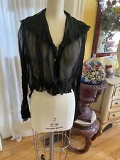 Beautiful Organza Sheer Blouse 1900's Black