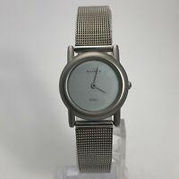 Skagen Womens Denmark Steel 4SSS Mesh Bracelet Silver Quartz Analog Wristwatch