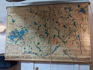 RARE 1966 Twin Cities Minneapolis St Paul School Industrial Street Map HUDSON Co
