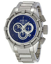 Invicta 1445 Men's Reserve Bolt Chronograph S/ Steel Blue Dial Swiss Quartz