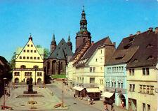 AK, Lutherstadt Eisleben, Markt mit Lutherdenkmal, 1980