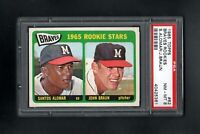 1965 TOPPS #82 BRAVES ROOKIE STARS ALOMAR/BRAUN PSA 8 NM/MT++CENTERED!