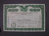 COMMONWEALTH OIL REFINING COMPANY INC. - STOCK CERTIFICATE Aktie share action