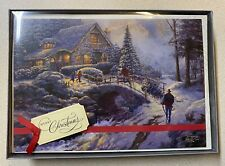 12 Hallmark Thomas Kinkade Painter of Light Christmas Cards w/ Glitter - NEW