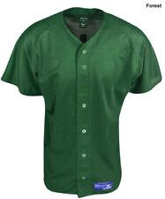 New Mizuno Polyester Mesh Runbird Baseball Jersey Forest Green Mens Size- XXL