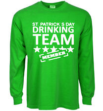 Funny St Patrick's day t-shirt drinking team decal tee shirt for men patty green