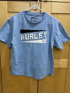 Hurley SPELLOUT Blue Short Sleeve Kid's T-Shirt Extra Large XL