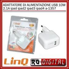 ALIMENTATORE ADATTATORE DI ALIMENTAZIONE USB 10W 2.1A ipad 2 3 4 MINI a-1357