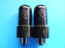 """6V6 / 6P6S OLD REFLECTOR / SVETLANA 1966 MATCHED PAIR """"RARE"""""""