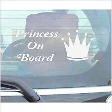 Princess On Board Sticker-Car,Van,Truck,Lorry,Vehicle Self Adhesive Window Sign