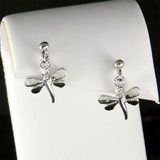 Dainty DRAGONFLY~ made with Swarovski Crystal Stick Girls Earrings Jewelry Gift