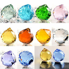 10 PCS Lot Crystal Glass Ball Prisms Suncatcher Lamp Pendants Wedding Decor 30mm