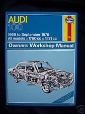 AUDI 100-ALL MODELS-1969 TO SEPT 1976-WORKSHOP MANUAL