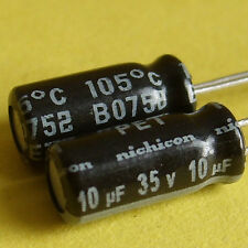 Nichicon 35V 10uF Low-ESR Electrolytic Capacitor x 30PCS Japan New Free Shipment