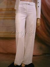 $1225 New YVES SAINT LAURENT YSL White Wide Leg Buckle Slacks Pants 36 4