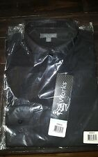 The Works - D100-Blk S -Black Dress Shirt Small