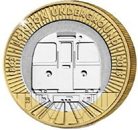2013 £2 LONDON UNDERGROUND TRAIN 150YRS TWO POUND COIN HUNT 25/32 BI-METAL 2 xx