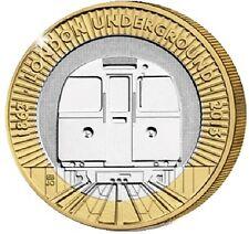 2013 £2 LONDON UNDERGROUND TRAIN 150YRS TWO POUND COIN HUNT 25/32 BI-METAL 2 zz