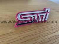 """STI"" Front Grille Badge Emblem Ornament to suit Subaru Impreza WRX 2001 - 2004"