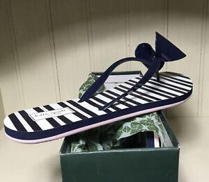 Kate Spade Norma Rich Blue Flip-Flop Sandals Blue