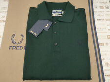 FRED PERRY Long Sleeve Shirt Reissues Merino Size 38 Green Wool Top BNWT RRP£125