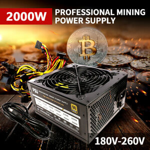 Portable 2000W Mining Power Supply For 8 Graphics Card Eth Coin