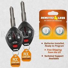 2 for Mitsubishi Galant Eclipse 2008 2009 2010 2011 2012 keyless remote key fob (Fits: Mitsubishi Eclipse)