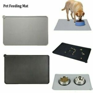 Silicone Pet Feeding Mat Non Slip Puppy Food Placemat for Dog Cat Bowls 47x30cm