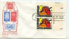 1723-24 Energy Conservation Development, Carrollton pair FDC