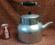 EXTRA LARGE VINTAGE WEAR-EVER ALUMINUM TEA/COFFEE KETTLE/POT &LID MADE IN CANADA