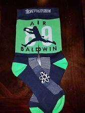 "Seattle Seahawks ""Air Baldwin"" socks (Mens,LG, Navy)"