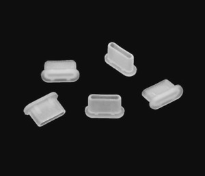 5x USB TYPE-C PORT DUST COVER PLUG STOPPER SILICONE for ZTE AXON S30 PRO