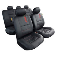 Leather Look Car Seat Covers Black, Airbag Safe, Free Shipping AU, Front & Rear