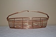 COPPER WIRE LONG / CANOE SHAPED BASKET 16""