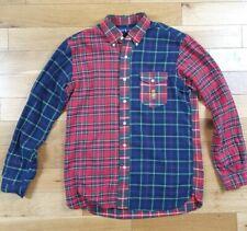 Mens Ralph Lauren Red Plaid Flannel Shirt Tartan Men's Medium Rare