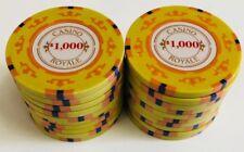 (25) $1000 CASINO ROYALE POKER CHIPS