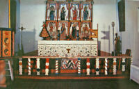 Altar Screen Llano Quemado Church 1950s Petley Santa Fe Postcard New Mexico