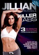 JILLIAN MICHAELS KILLER ABS DVD Fitness Training Workout Exercise Video NEW