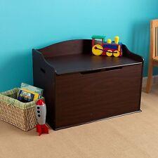 Wooden Storage Chest Trunk Espresso Bench Toy Box Furniture Organizer Bedroom