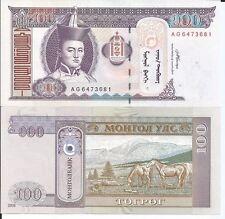 MONGOLIA 100 TUGRIK 2008 P 65 LOTE DE 5 BILLETES
