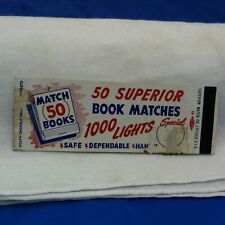 Superior Match Company of Chicago 50 book matches special offer matchbook cover