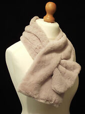 Luxurious Mink Faux Fur Keyhole Wrap Snood Scarf  - So Soft!