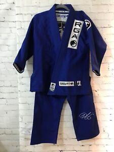 Gracie Jiu Jitsu Renzo Gracie Mens Blue Solid Standard GI Uniforms Gis C1