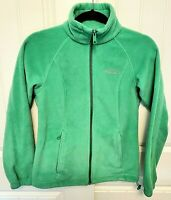 COLUMBIA Women's Size XS Fleece Full Zip Jacket Green Zipped Pockets EUC