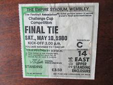 1980 Arsenal v West Ham FA Cup Final original ticket season 1979/80 fair cond