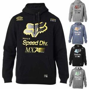 Fox Racing Mens MTB Hoodie Backdrafter Pullover Fleece Sweatshirt Jumper S M L