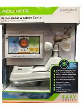 2018 AcuRite Pro 5 IN 1 Wireless Sensor Weather Station Color Monitor