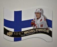 2020-21 UD Series 1 NHL Worldwide Die Cut #WW-9 Teuvo Teravainen