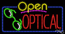 "New ""Open Optical"" 32x17 Solid/Animated Led Sign W/Custom Options 25543"